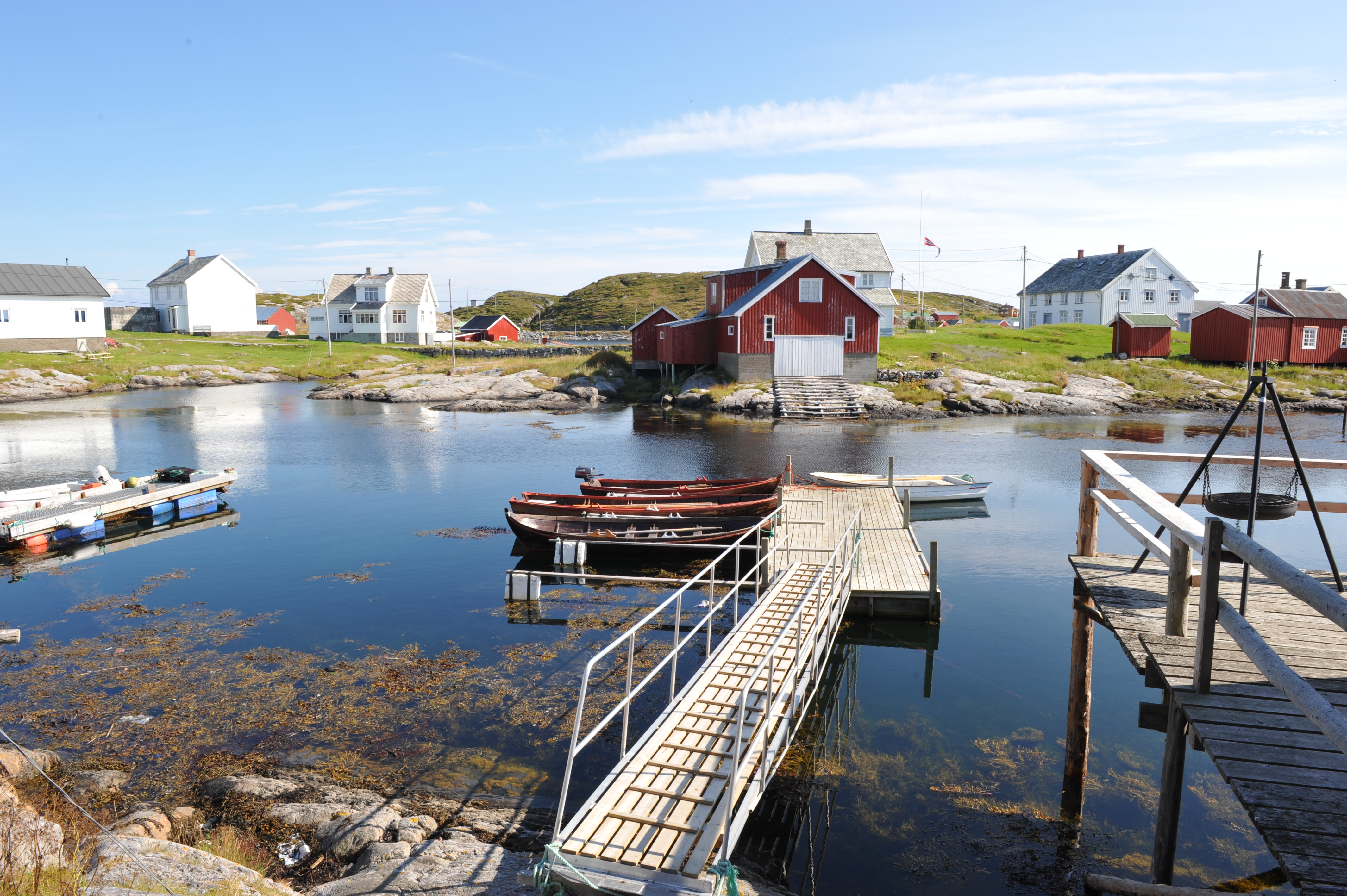 Traditional fishing village in Norway, Sør-Gjæslingan.